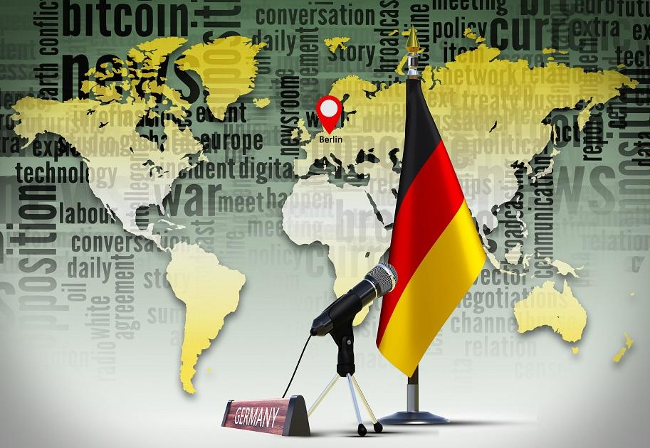 német gazdaság zászló mikrofon