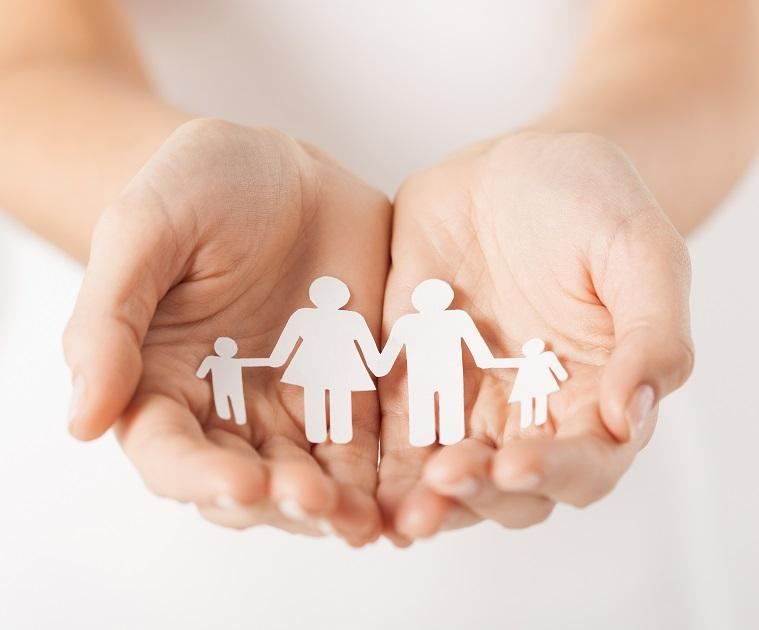 háztartások család