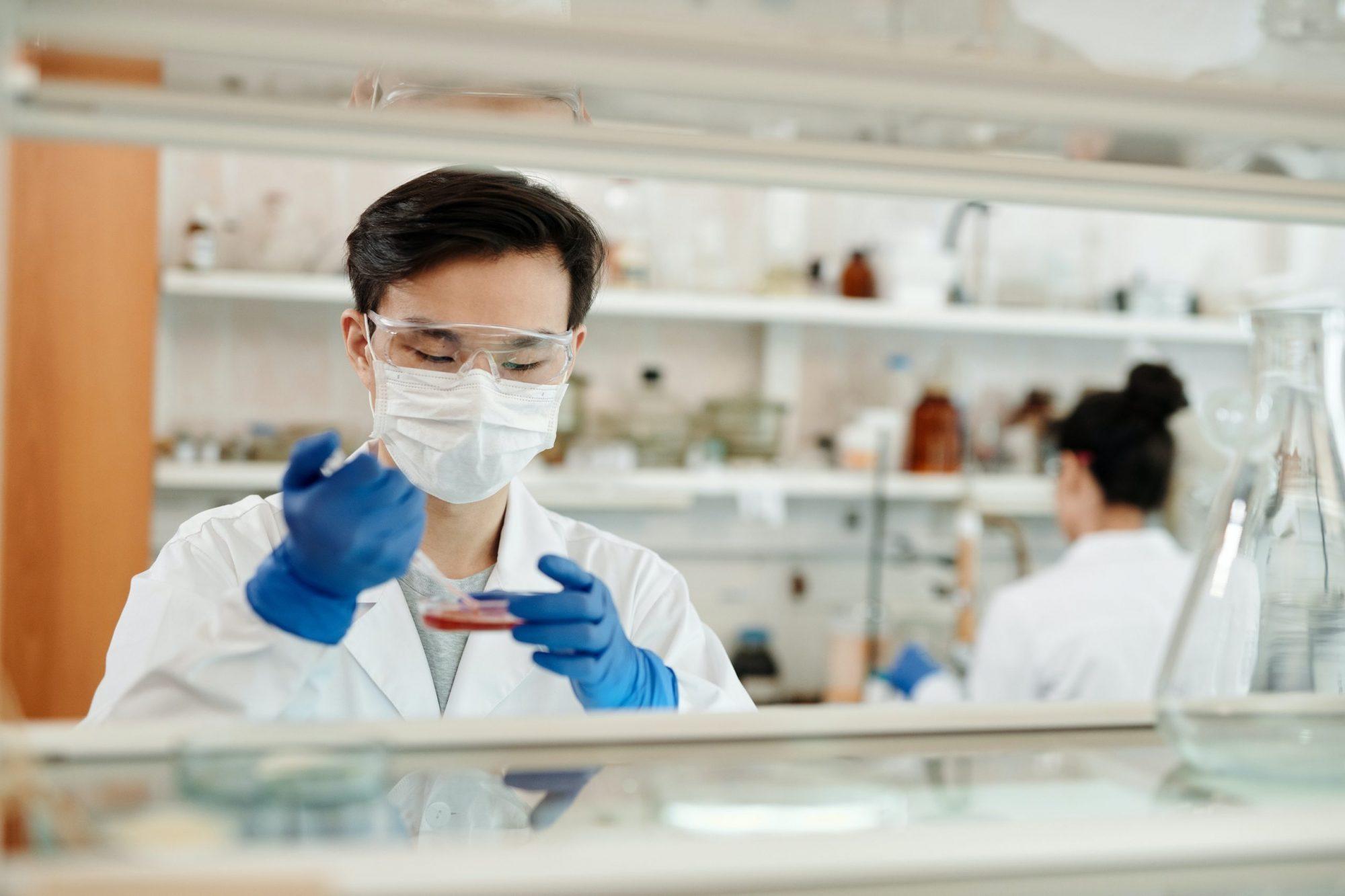 kutatóorvosok, laboratórium