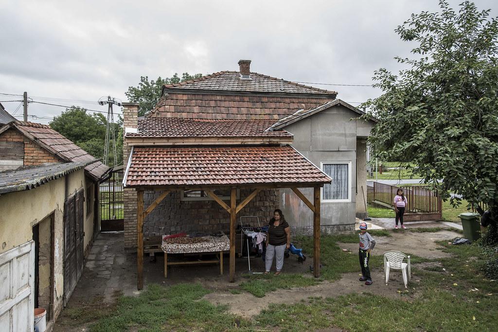 szegény, hátrányos, vidék, ház