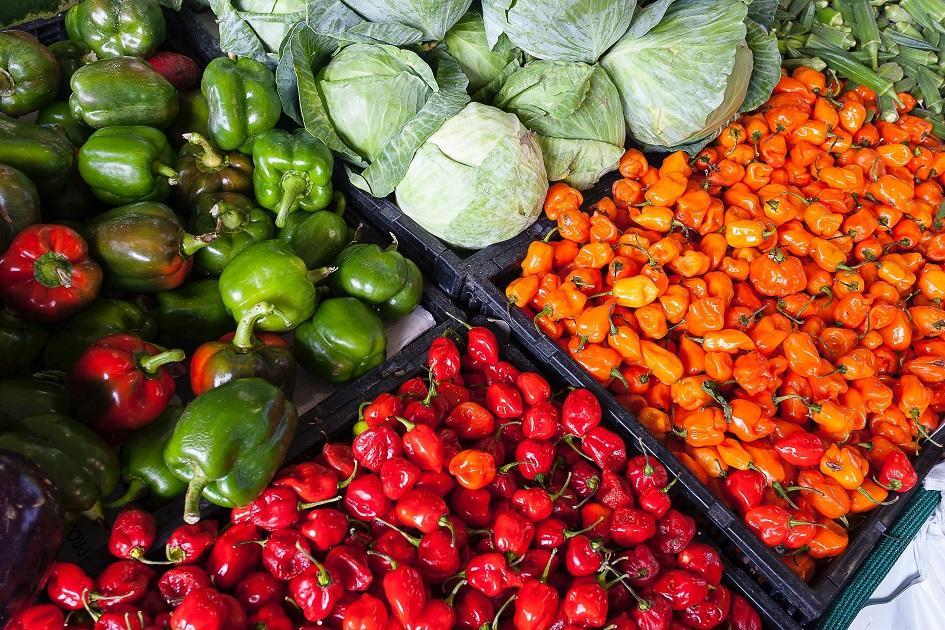 piac, rekesz, zöldség, vidék