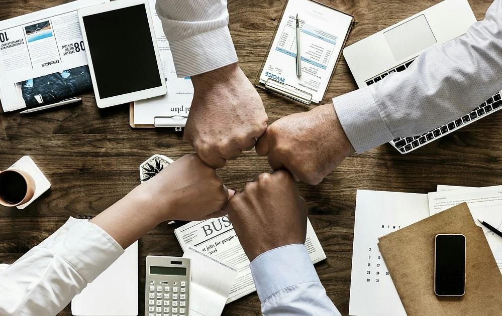 meeting, ököl, kéz, üzlet, siker