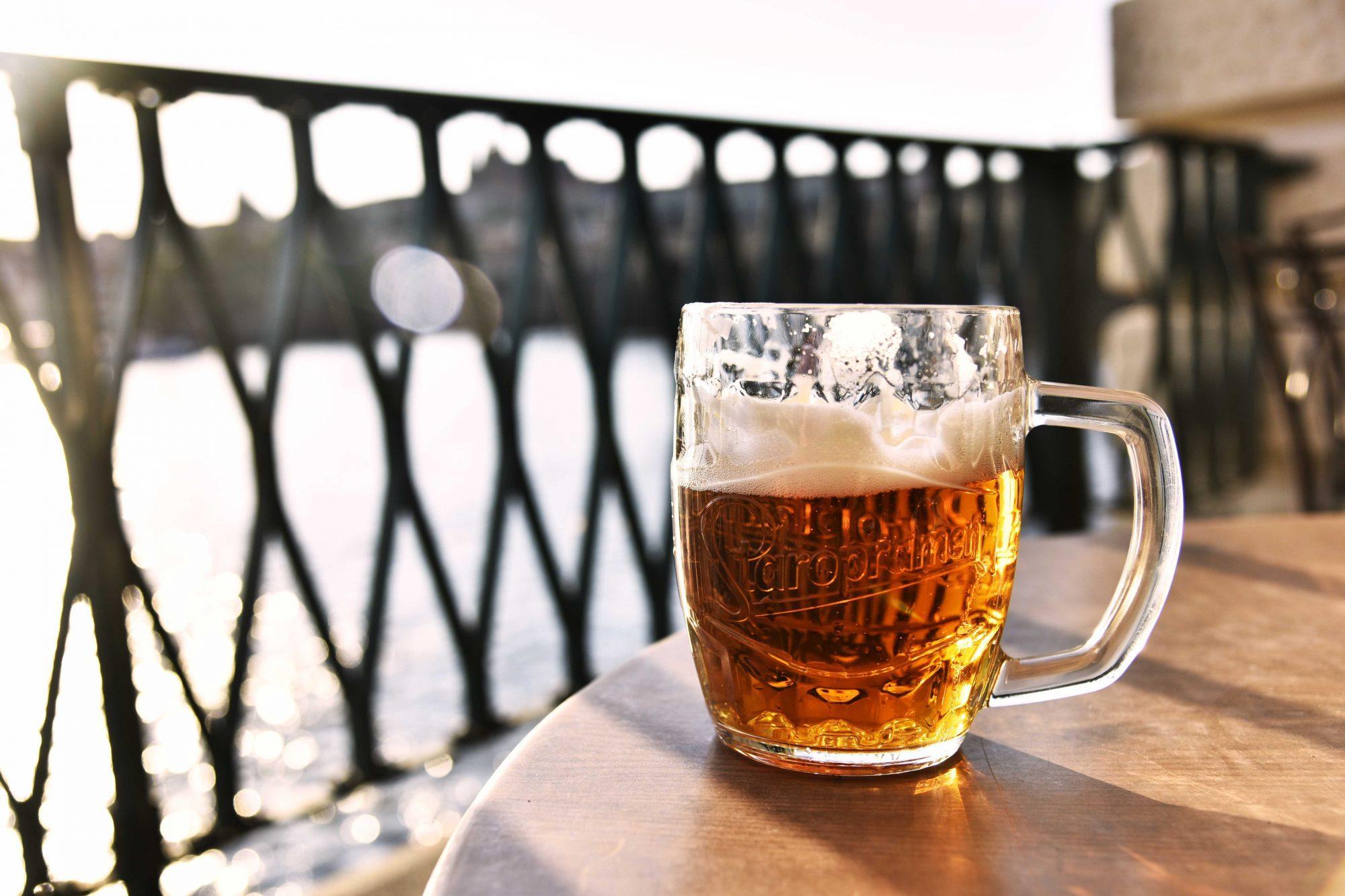 sör, nyár, korsó