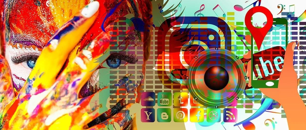 social media, közösségi médis, színes