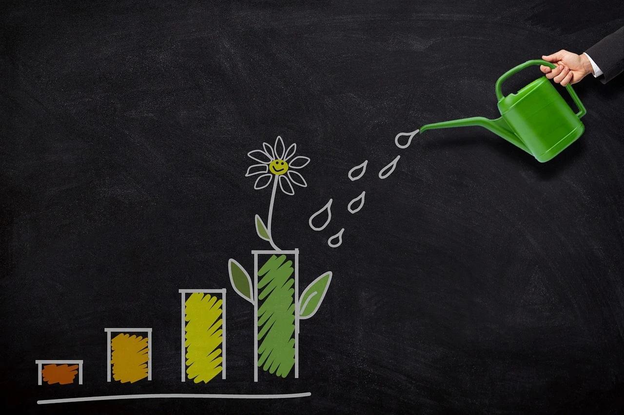 befektetés, grafikon, növekedés